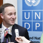 NZ Prime Minister John Key meets former NZ PM and UNDP administrator Helen Clark. Image courtesy of the United Nations.