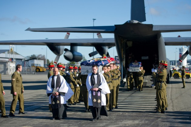 NZDF: New Zealand's fallen soldiers arrive home.